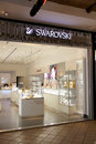 Swarovski crystal store in a shopping center in portugal Royalty Free Stock Photos
