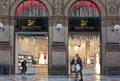 Swarovski people passing by shop in galleria vittorio emanuele in milan italy Stock Photo
