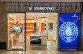 Swarovski store bucharest romania october on october in bucharest romania the crystal range includes home decoration Stock Photography