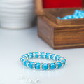 Swarowski Blue stretch Bracelet Royalty Free Stock Photo