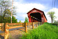 Swartz covered bridge historic built in in ohio Royalty Free Stock Images