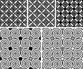 Swastika pattern seamless texture black Royalty Free Stock Photography