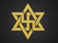 Swastika symbol isolated on background Stock Photo