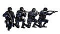 SWAT team in action Royalty Free Stock Photo