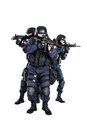 Swat team in action special weapons and tactics Royalty Free Stock Image
