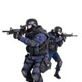 Swat team in action special weapons and tactics Royalty Free Stock Photography