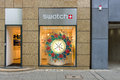 Swatch store on kurfuerstendamm berlin july group ltd designs manufactures distributes and sells finished watches watch Royalty Free Stock Image
