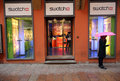 Swatch watch retail outlet bologna italy april a pedestrian walks in front of a s a store in bologna italy on saturday april Stock Photo