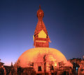 Swayambhu pagoda kathmandu valley at night view Royalty Free Stock Photography