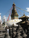 Swayambhunath complex Royalty Free Stock Photos