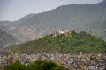 Swayambhunath in kathmandu nepal view on from durbar square Royalty Free Stock Image