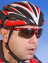 Sweaty cyclist Stock Photos