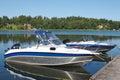 Sweden boat dock 8 Stock Photo