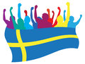 Sweden fans illustration Royalty Free Stock Photo