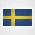 Sweden flag on a gray background. Vector illustration Royalty Free Stock Photo