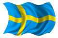 Sweden flag isolated Royalty Free Stock Image