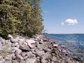 Sweden idyllic coast in a sunny day Stock Photos