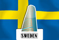 Sweden, illustration Royalty Free Stock Image