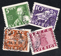 Sweden stamps Royalty Free Stock Photo