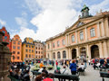Swedish Academy and Nobel Museum in Stockholm Royalty Free Stock Photography