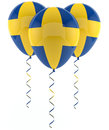 Swedish balloons - Flag Stock Image