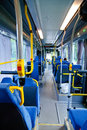 Swedish bus interior Royalty Free Stock Photo