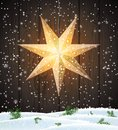 Swedish Christmas star, seasonal shining window decoration