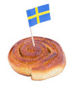 Swedish cinnamon bun Stock Image