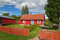 Swedish cottage house Stock Photos
