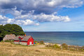 Swedish cottage house at Baltic Sea Royalty Free Stock Photos