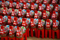 Swedish dala horses Stock Photos