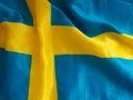 Swedish flag background Royalty Free Stock Photo