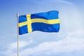 Swedish Flag. Royalty Free Stock Photo