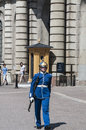 Swedish guard a female on duty Royalty Free Stock Photo