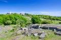 Swedish island in panorama landscape Royalty Free Stock Photo