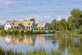 Swedish lakehouse Royalty Free Stock Photo