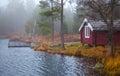 Swedish Lakeside Royalty Free Stock Photo