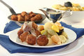 Swedish meatballs Royalty Free Stock Photos