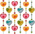 Swedish pattern design colorful graphic illustration for children Royalty Free Stock Photography