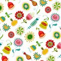 Swedish pattern design colorful graphic illustration for children Royalty Free Stock Image
