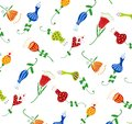 Swedish pattern design colorful graphic illustration for children Stock Image
