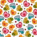 Swedish pattern design colorful graphic illustration objects over white Stock Photos