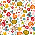 Swedish pattern design colorful graphic illustration objects over white Royalty Free Stock Image