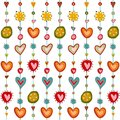 Swedish pattern design colorful graphic illustration objects over white Royalty Free Stock Images