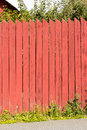 Swedish planks fence Royalty Free Stock Image