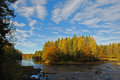 Swedish river in autumn Stock Photography