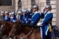 Swedish Royal Guard Royalty Free Stock Photo