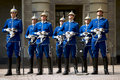 Swedish Royal Guard in traditional uniform Royalty Free Stock Photo