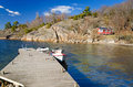 Swedish sea bay in april beautiful landscape for spring season Royalty Free Stock Photography