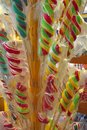 stock image of  Decorative colorful sugar canes on sticks